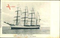 Segelschiff, Herzogin Sophie Charlotte, Viermastbark, Kadettenschulschiff