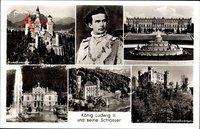 König Ludwig II. von Bayern, Neuschwanstein, Herrenchiemsee