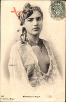 Algier Alger Algerien, Mauresque, leichtbekleidete junge Frau, Geiser 393