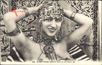 Jeune Femme Kabyle paree de ses bijoux, Frau mit entblöster Brust