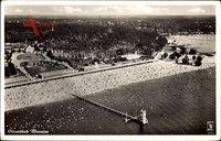 Berlin Zehlendorf Wannsee, Fliegeraufnahme von Strand und Umgebung