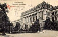 Berlin Charlottenburg, Blick auf die Auffahrt der Technischen Hochschule