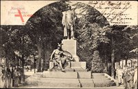 Mannheim in Baden Württemberg, Blick auf das Bismarckdenkmal