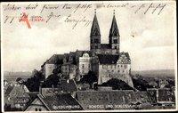Quedlinburg im Harz, Blick auf das Schloss und die Schlosskirche