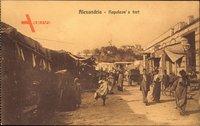 Alexandria Ägypten, Napoleons Fort, Straßenpartie, Einheimische