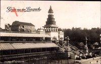 Berlin Wilmersdorf Grunewald Halensee, Gruß aus dem Lunapark, Treppe