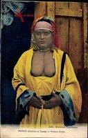 Marokko, Scenes et Types, Femme Arabe, Frau mit entblössten Brüsten