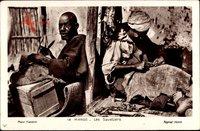Marokko, Les Savetiers, Flickschuster bei der Arbeit, Maghreb