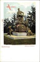 Rudelsburg Bad Kösen Naumburg an der Saale, Blick auf Bismarck Denkmal