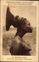 La Croisière Noire, Expédition Citroen, Centre Afrique, Femme Mangbetu, Congo
