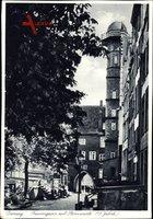 Gdańsk Danzig, Blick in die Frauengasse mit Sternwarte, Tor
