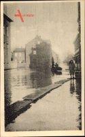Beuel Bonn, Hochwasser am Rhein, Neujahr 1920, Rheinaustraße