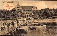 Glücksburg an der Ostsee, Blick von der Seebrücke auf das Kurhaus