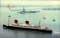 New York City USA, Paquebot Liberte, Dampfschiff, CGT, French Line
