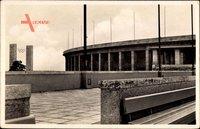 Berlin Charlottenburg, Reichssportfeld, Blick zum Schwimmstadion