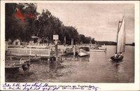 Berlin Reinickendorf Tegelort, Uferpartie am Tegeler See, Segelboot