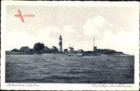 Laboe Probstei Ostsee, Blick vom Wasser auf den Bülcker Leuchtturm