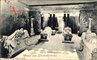 Berlin Charlottenburg, Inneres des Mausoleums, Mumien