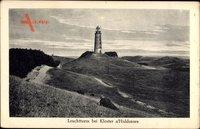Insel Hiddensee in der Ostsee, Leuchtturm bei Kloster, Landschaft