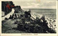 Koserow an der Ostsee, Blick vom Waldrandweg auf den Strand