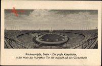 Berlin Charlottenburg, Reichssportfeld, große Kampfbahn, Marathon Tor