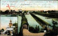 Berlin Spandau, Etablissement Carlshof am Spandauer Schiffahrts Kanal, Wiemer