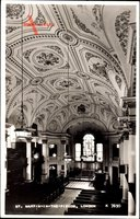 London City, St. Martin in the Fields, Interior view, Ceiling