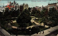 London City, Leicester Square, Platz, Bäume, Promenaden