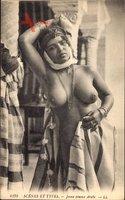 Maghreb, Scènes et Types, Jeune femme Arabe, Barbusig