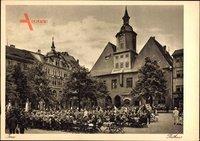 Studentika Jena in Thüringen, Partie am Rathaus, Studentischer Frühschoppen