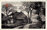Althagen Ahrenshoop Ostsee, reetgedecktes Wohnhaus