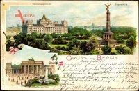Berlin Tiergarten, Siegessäule, Reichstag, Brandenburger Tor