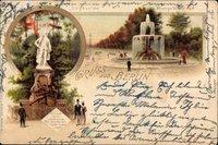 Berlin Tiergarten, Wrangelbrunnen, Siegesallee, Siegessäule, Denkmal