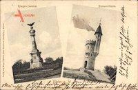 Höxter in Nordrhein Westfalen, Kriegerdenkmal, Bismarckturm