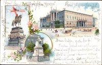 Berlin, Palais Kaiser Wilhelm I., Denkmal Friedrich d. Großen