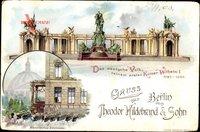 Berlin, Denkmal Kaiser Wilhelm I., Historisches Eckfenster