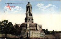 Hamburg Neustadt, Blick auf das Bismarckdenkmal