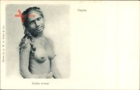 Ceylon Sri Lanka, Rodiya woman, Junge Frau, Barbusig