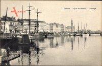 Ostende Westflandern, Quai et Bassin, Pilotage, Segelschiffe im Hafen