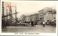 Fiume Kroatien, Riva Ammiraglio Rainer, Segelschiffe im Hafen