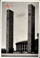 Berlin Charlottenburg, Reichssportfeld, Osttor, Olympia 1936