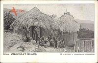 Französisch Kongo, Idigenes de Missadange, Strohhütten, Chocolat Klaus