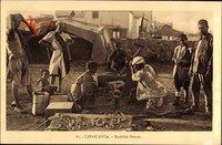 Casablanca Marokko, Marechal ferrant, Hufschmied bei der Arbeit