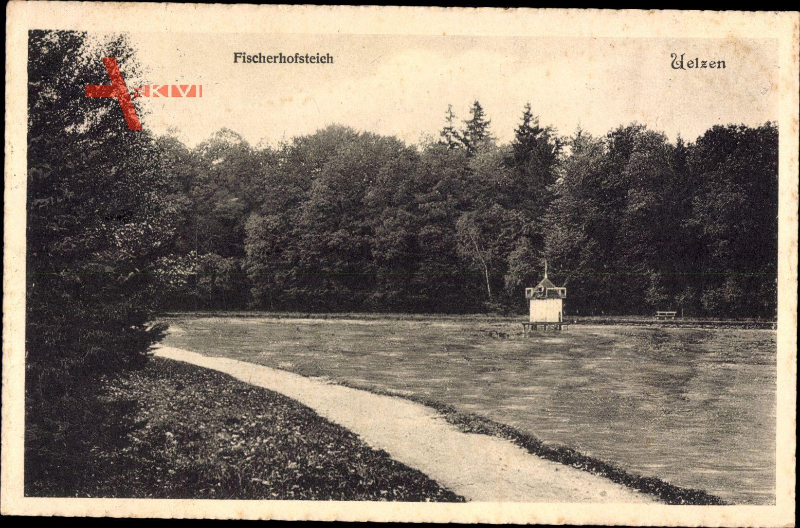 Uelzen in Niedersachsen, Blick auf den Fischerhofsteich