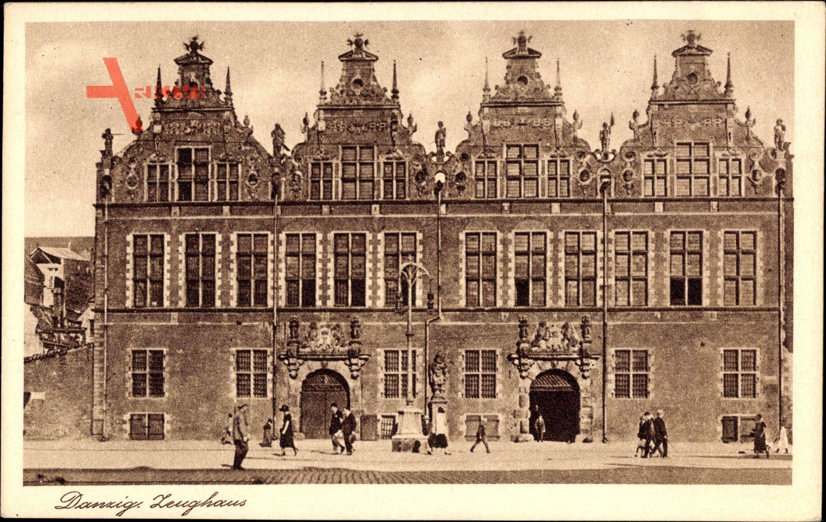 Gdańsk Danzig, Ansicht vom Zeughaus, Hausfassaden