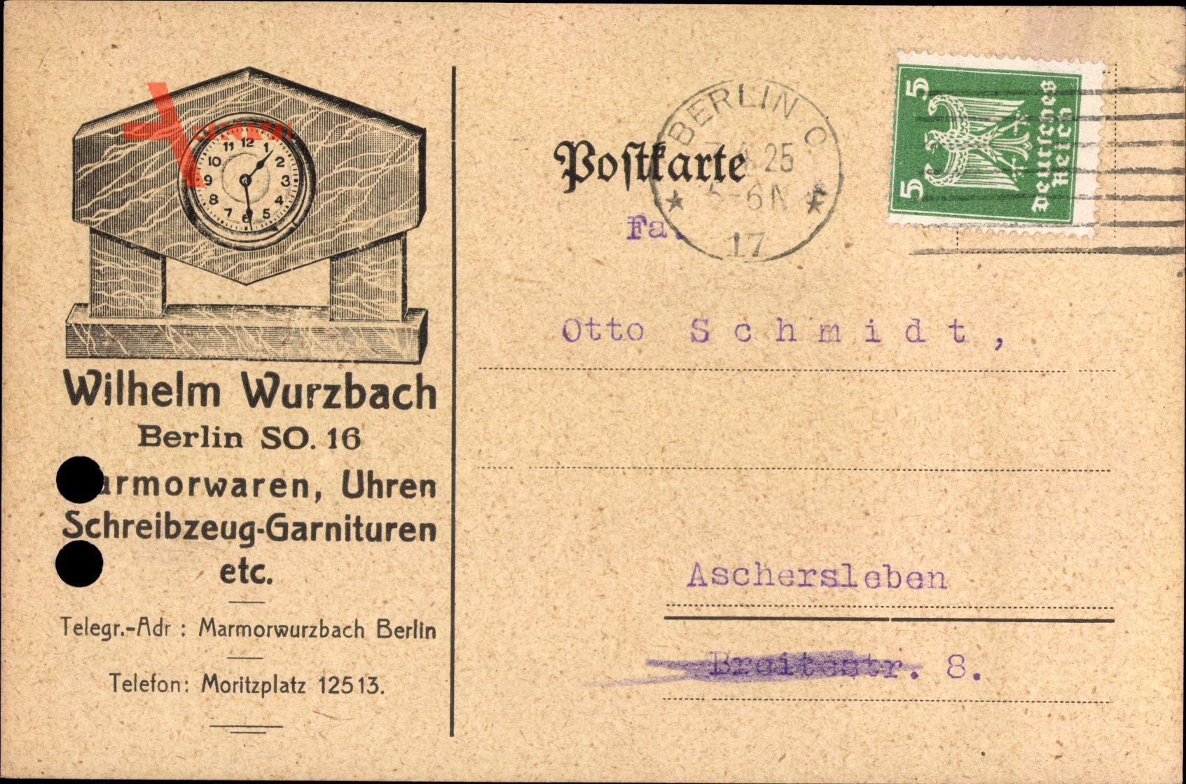 Berlin Kreuzberg, Marmorwaren Wilhelm Wurzbach, Moritzplatz