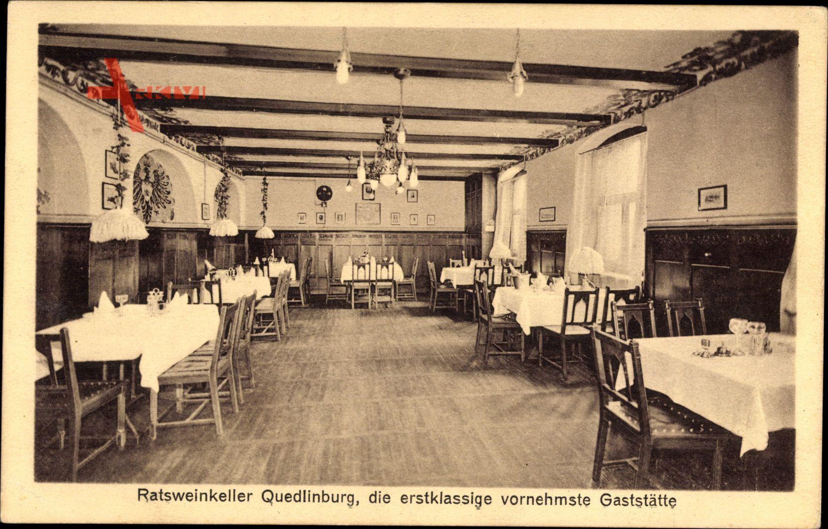 Quedlinburg im Harz, Innenansicht vom Ratsweinkeller, Restaurant