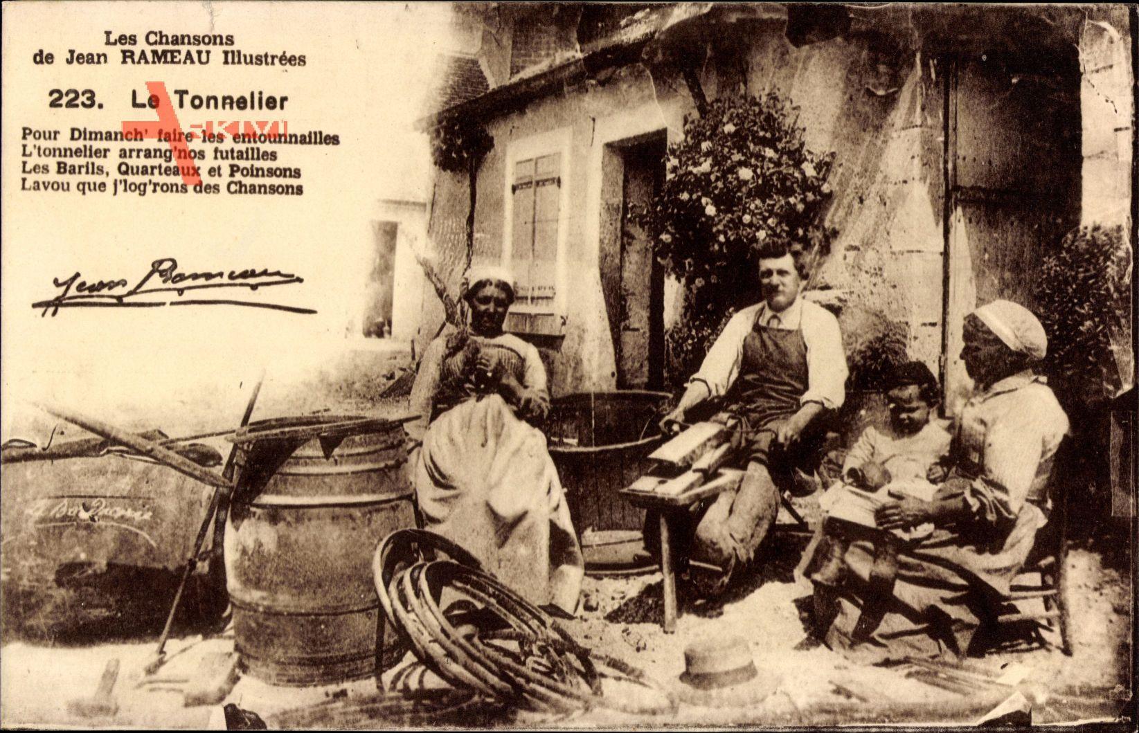 Le Tonnelier, Fassbinder bei der Arbeit, Herstellung von Holzfässern
