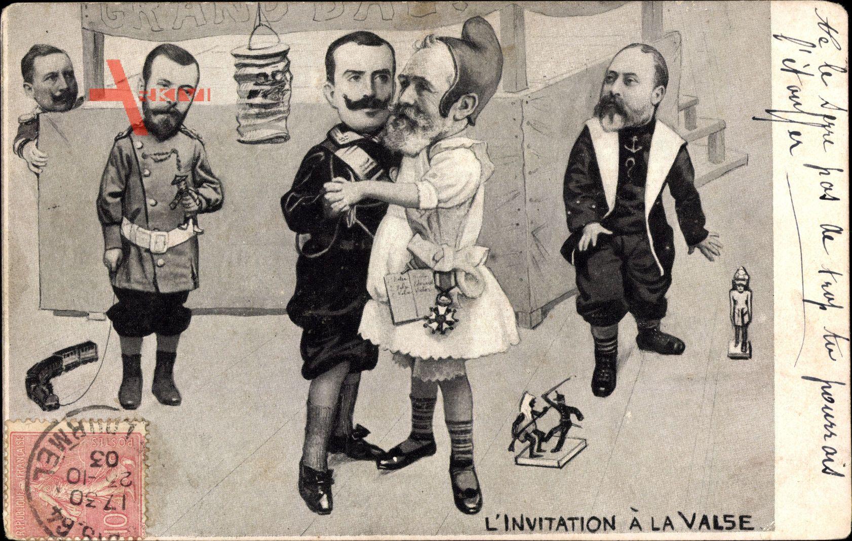 LInvitation à la Valse, Loubet, Viktor Emanuel III, Nikolaus II., Wilhelm II