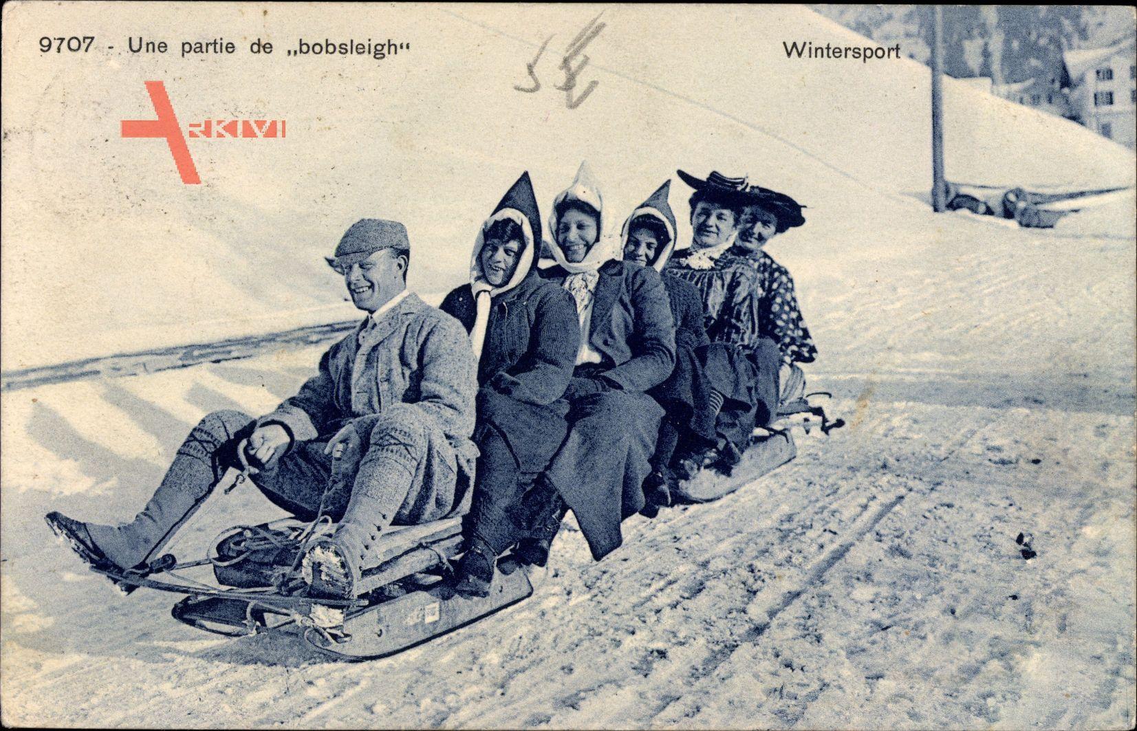 Wintersport, Une partie de Bobsleigh, Schlittenfahrt, Wintersport